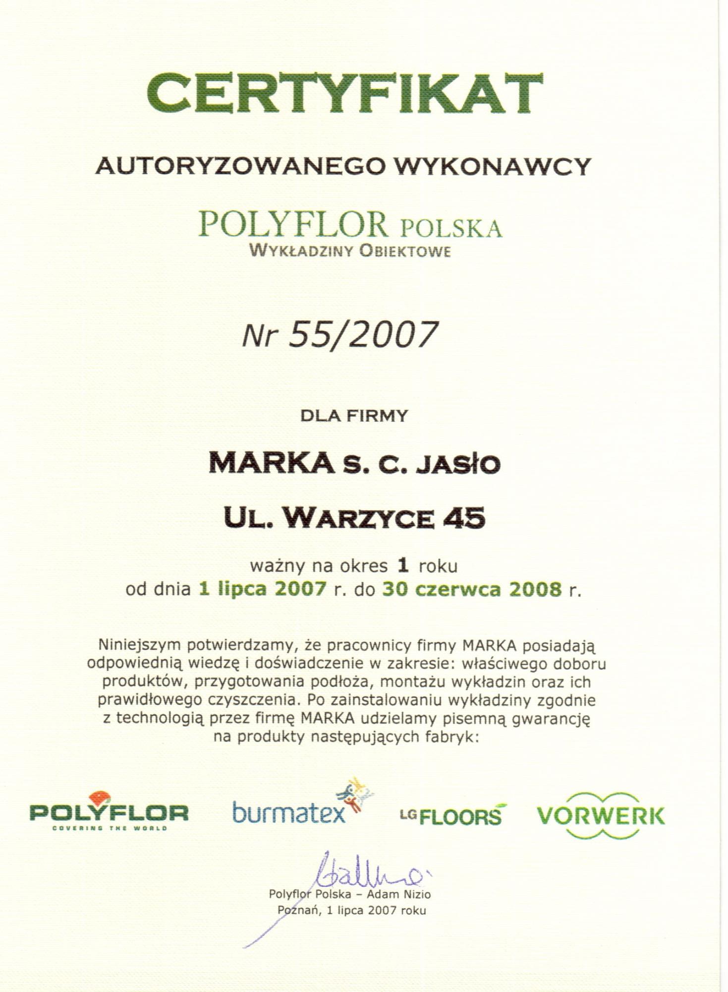 autoryzacja Polyflor 2007