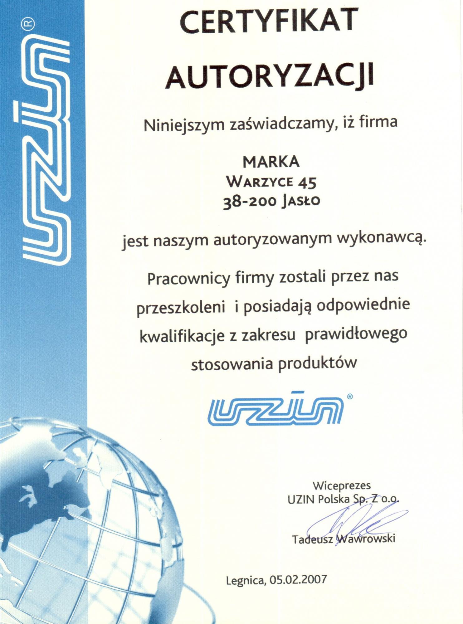 autoryzacja Uzin 2007(1)
